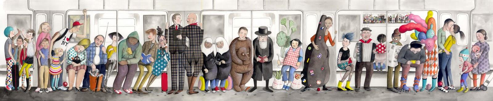 Sophie Blackall_Subway Art